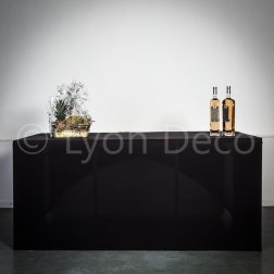 Location Buffet Design Noir