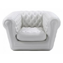 Location canap chesterfield gonflable blanc 2 pl mobilier design - Fauteuil chesterfield blanc ...