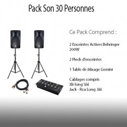 Location Pack Son 30 personnes