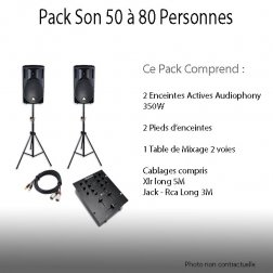 Location Pack Son 50 à 80 personnes