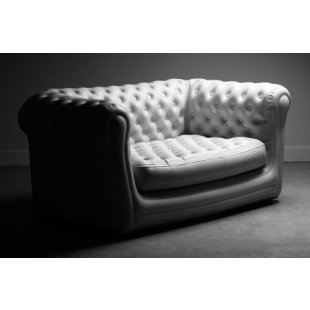 Location canap chesterfield gonflable blanc 2 places lyon deco - Canape chesterfield gonflable ...