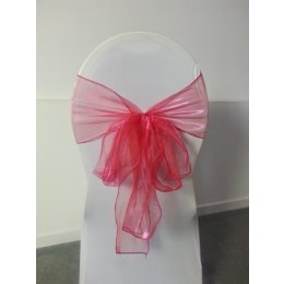 Location Noeud de Chaise Organza Fushia