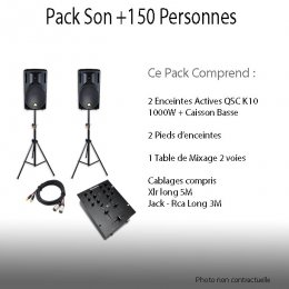 Location Pack Son + 150 personnes