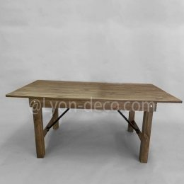 Location Table Bois Brut 213 X 103 cm