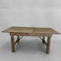 Location Table Bois Brut 220 X 90 cm