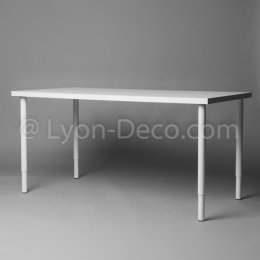 Location Table Rectangulaire Blanche 100 x 60 cm