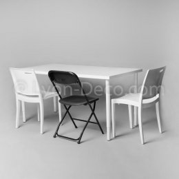 Location Table Rectangulaire Blanche 150 x 75 cm