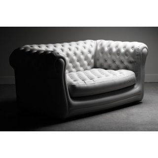 Location Canape Gonflable Chesterfield blanc