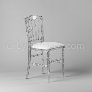 location chaise napoleon 3 transparente. Black Bedroom Furniture Sets. Home Design Ideas