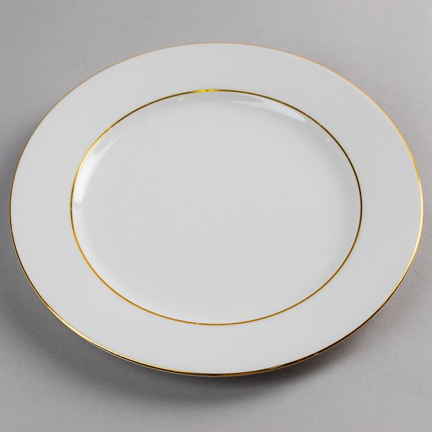 Location Assiette Blanche Filet Or Roma 21 cm