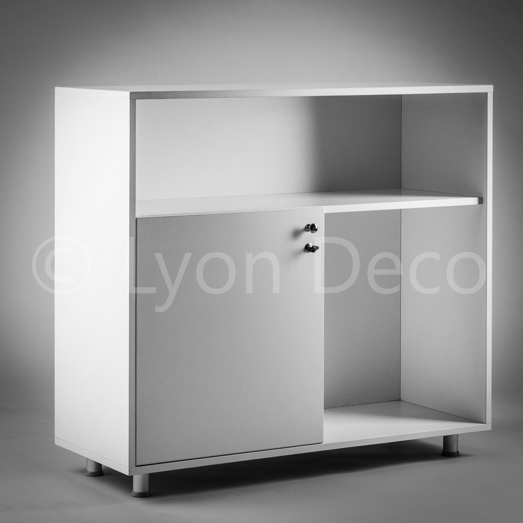 location banque d 39 accueil blanche h 110 cm comptoir accueil blanc. Black Bedroom Furniture Sets. Home Design Ideas