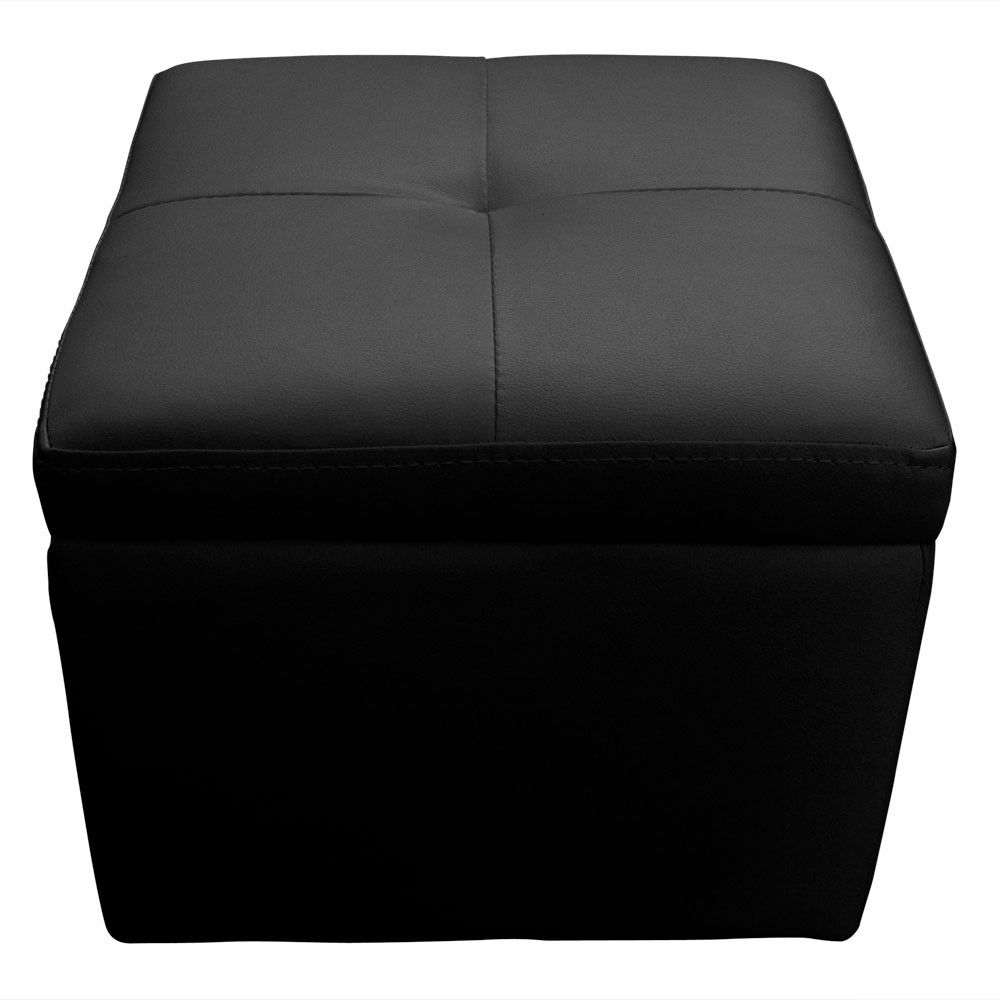 location banquette noire 3 poufs mobilier lounge noir. Black Bedroom Furniture Sets. Home Design Ideas