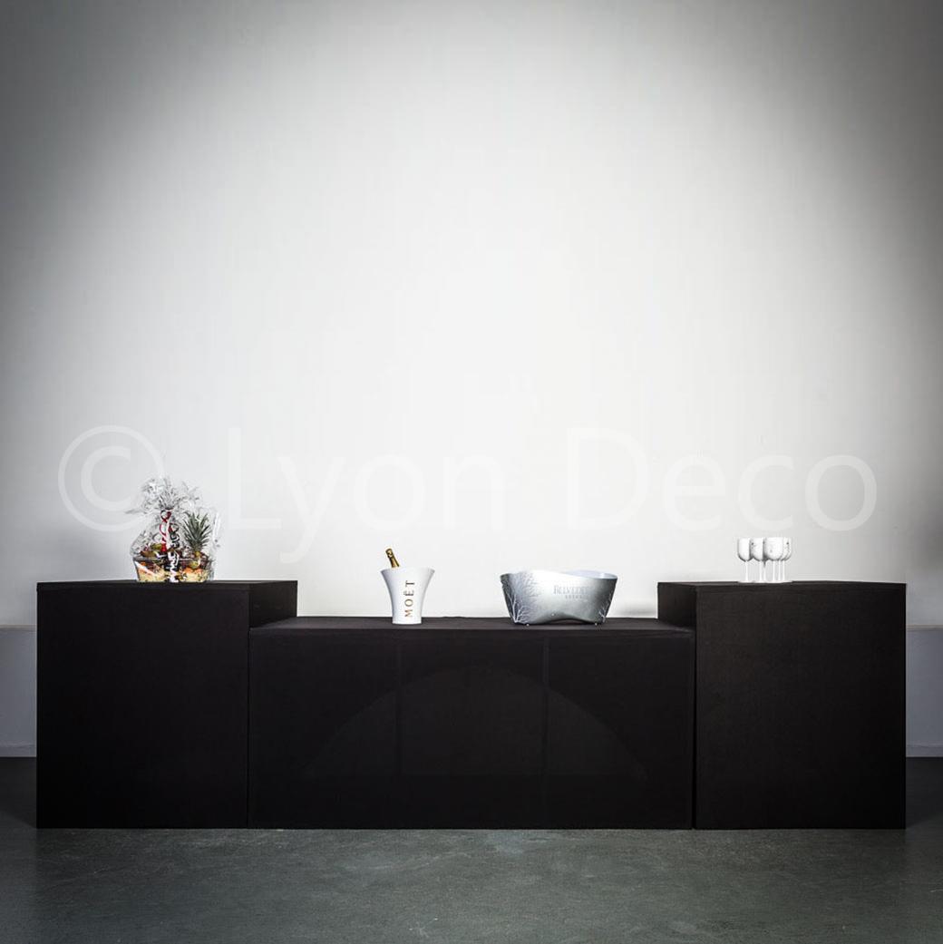 location buffet traiteur design noir pliant 200 x 94 x90 cm. Black Bedroom Furniture Sets. Home Design Ideas
