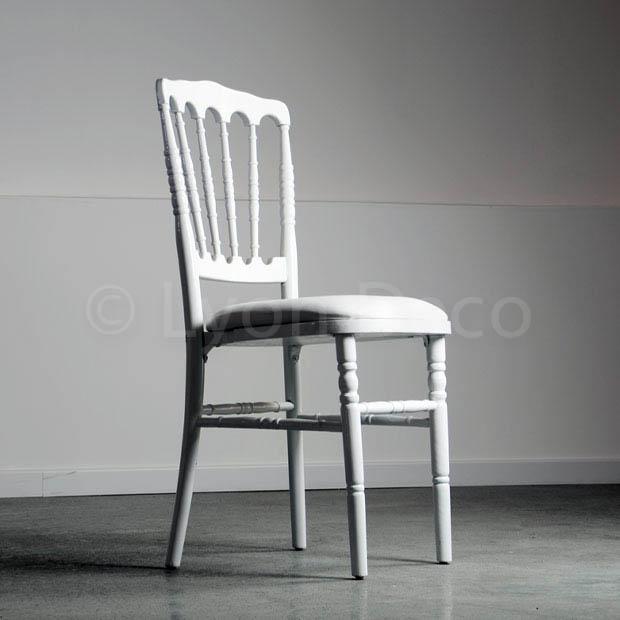 Location chaise napoleon 3 blanche idale pour gala ou - La chaise blanche ...