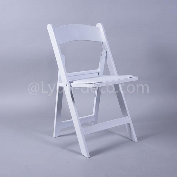 Location chaise en bois blanc idale pour votre crmonie laque for Chaise bois et blanc
