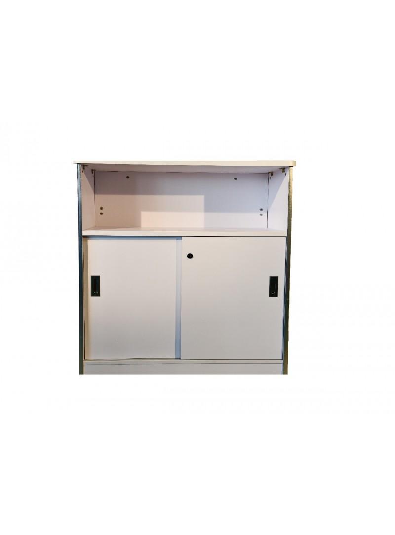 location comptoir d 39 accueil blanc h 110 cm 3 rangement. Black Bedroom Furniture Sets. Home Design Ideas