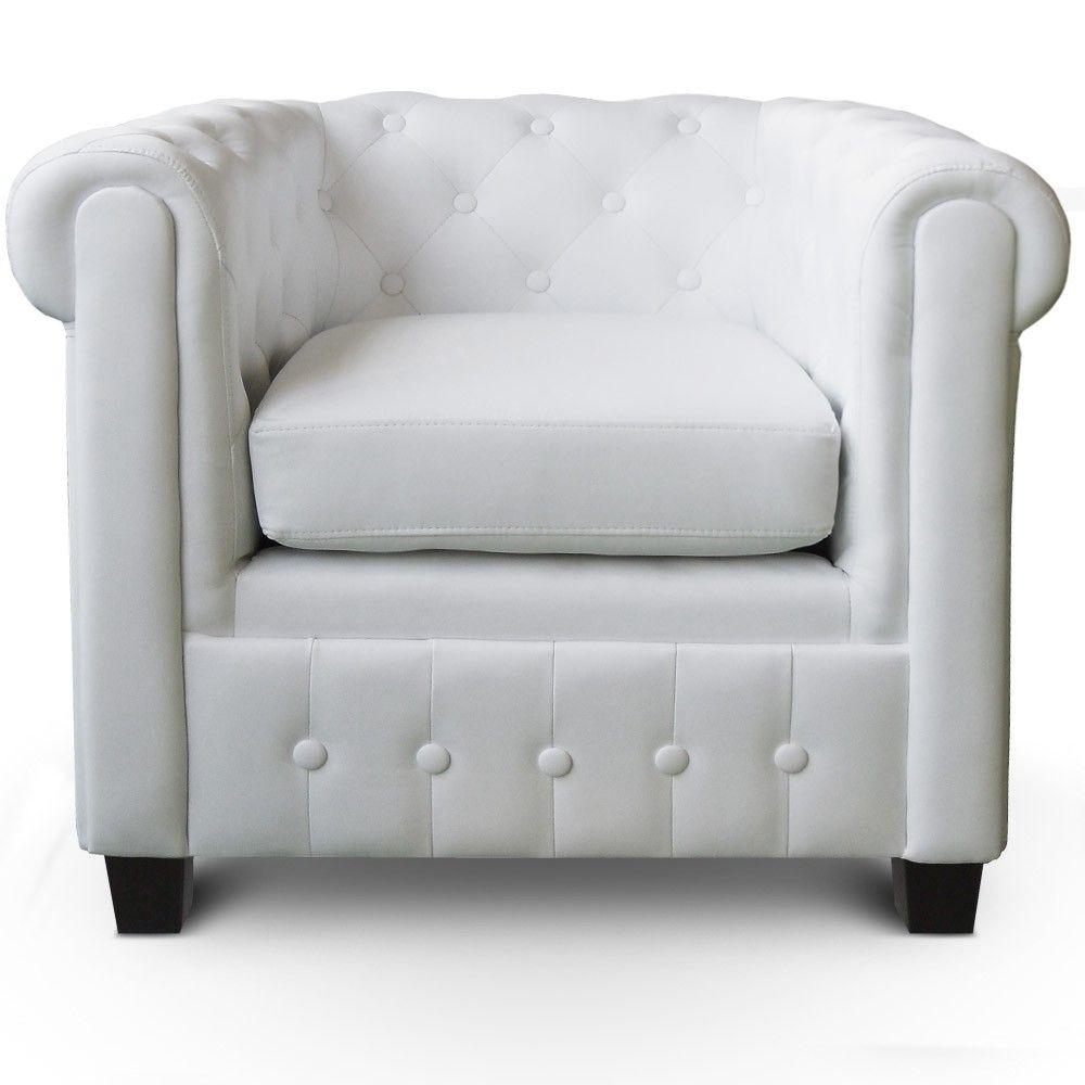Location de fauteuil Chesterfield blanc sur Lyon et Vienne ...