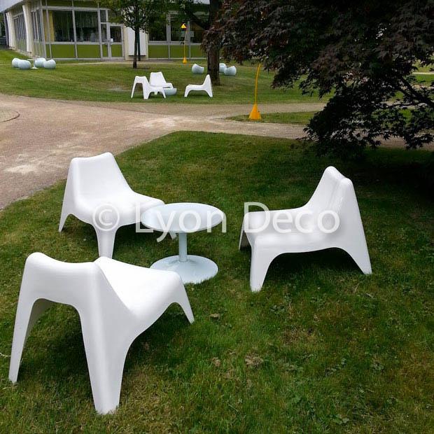 Location fauteuil blanc d 39 ext rieur disponible sur lyon et vienne - Deco jardin recyclage lyon ...