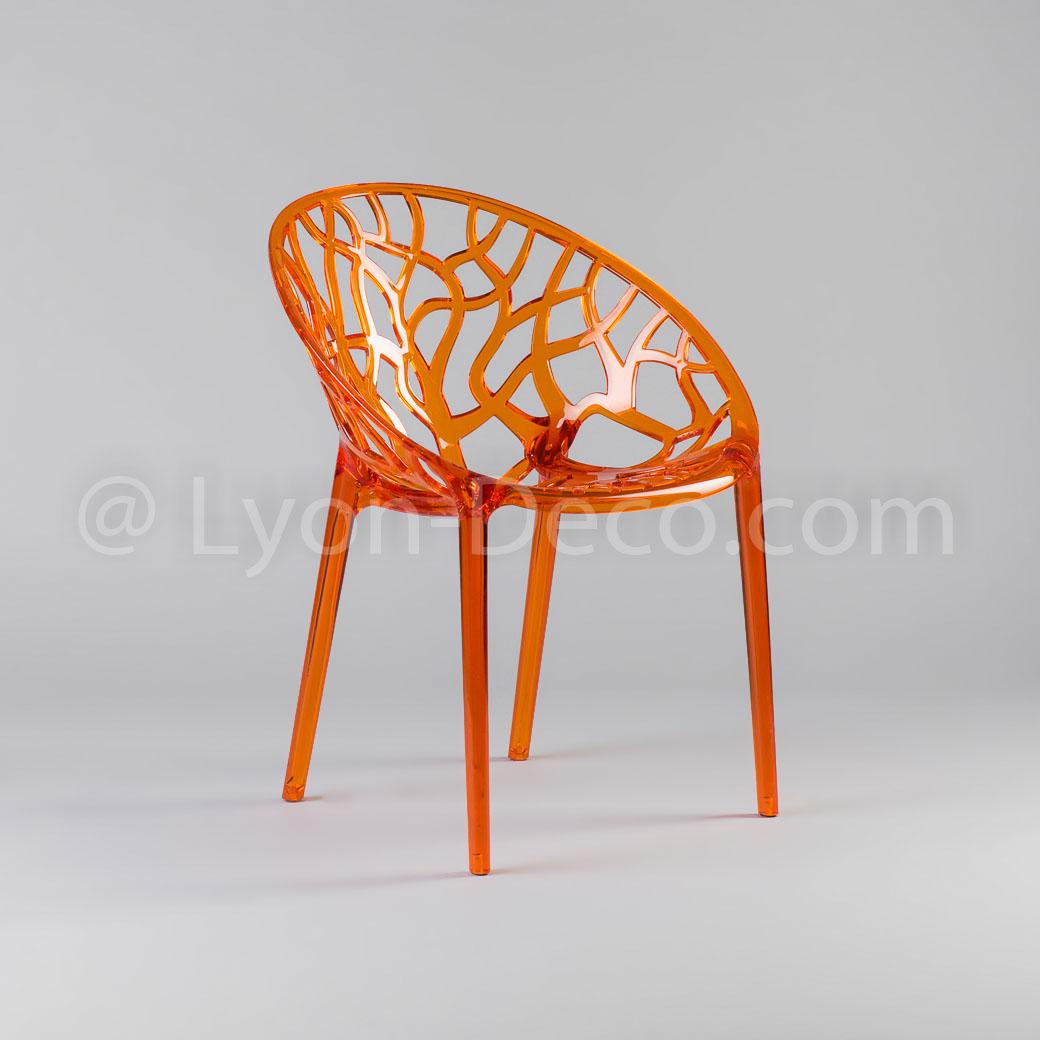Location Fauteuil Design Tree Orange Léger Robuste Et Contemporain - Fauteuil orange