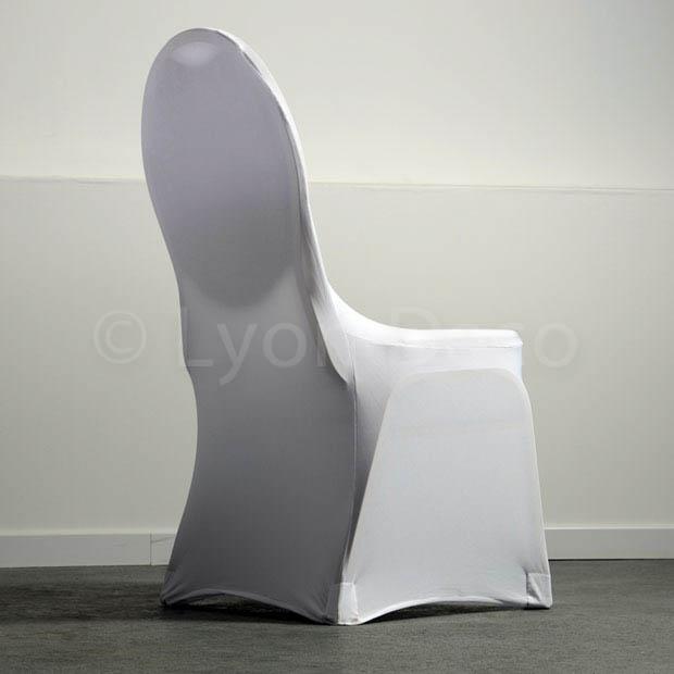 location housse de chaise blanche lycra disponible sur lyon et vienne. Black Bedroom Furniture Sets. Home Design Ideas