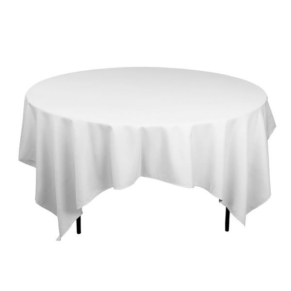 Location nappe carr blanche 240 x 240 cm pour table ronde for Table blanche carree