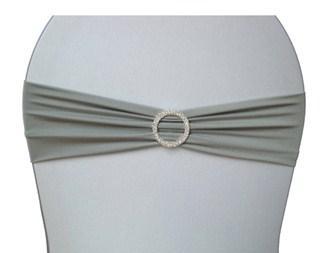 location de noeud lycra couleur argent pour vos housses de chaise. Black Bedroom Furniture Sets. Home Design Ideas