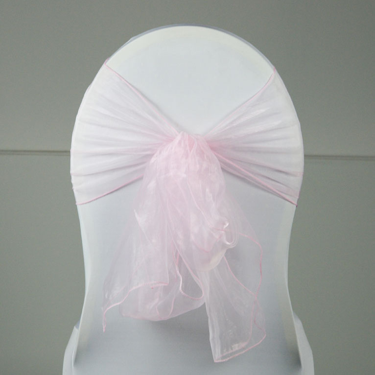 Location Noeud De Chaise Organza Rose