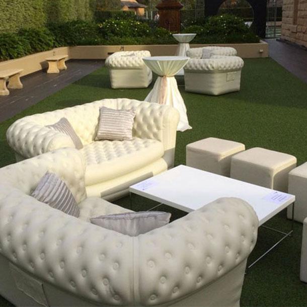 Location pouf simili cuir blanc sur lyon location mobilier lounge - Pouf simili cuir blanc ...