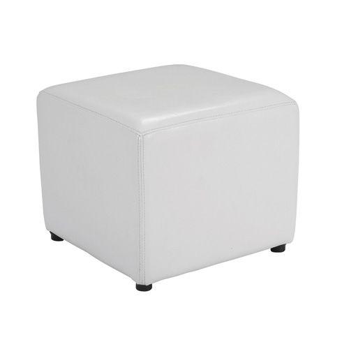 location pouf blanc pvc carr sur lyon. Black Bedroom Furniture Sets. Home Design Ideas