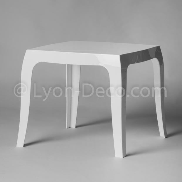 Location Table Basse Queen Blanc