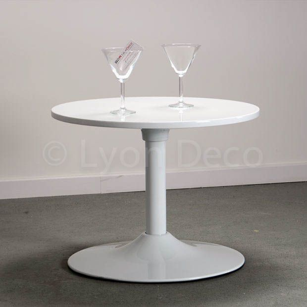 Location Table Basse Ronde Blanche Type Guridon