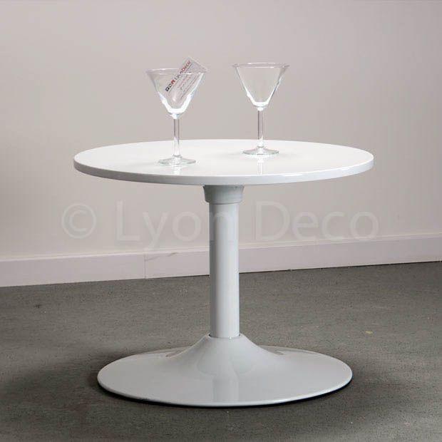 Location Table Basse Ronde Blanche Type Guridon