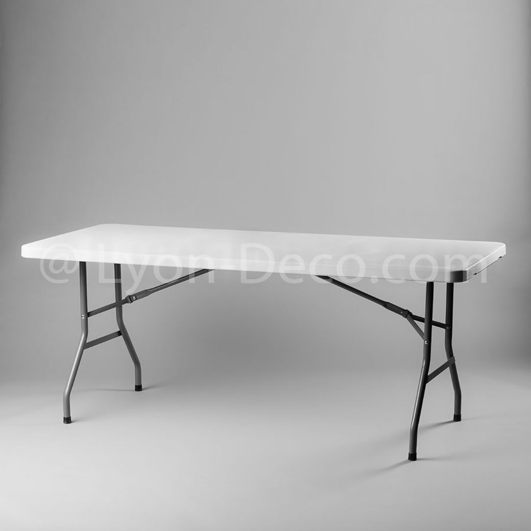 Location table rectangulaire 183 x 76cm pied pliant 6 personnes Location table rectangulaire