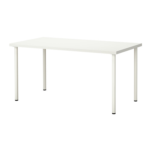 Table rectangulaire 150 x 75cm blanche