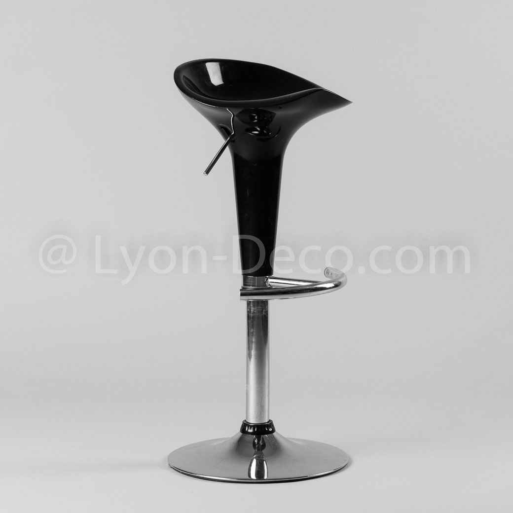 location tabouret de bar noir et inox r glable en hauteur. Black Bedroom Furniture Sets. Home Design Ideas