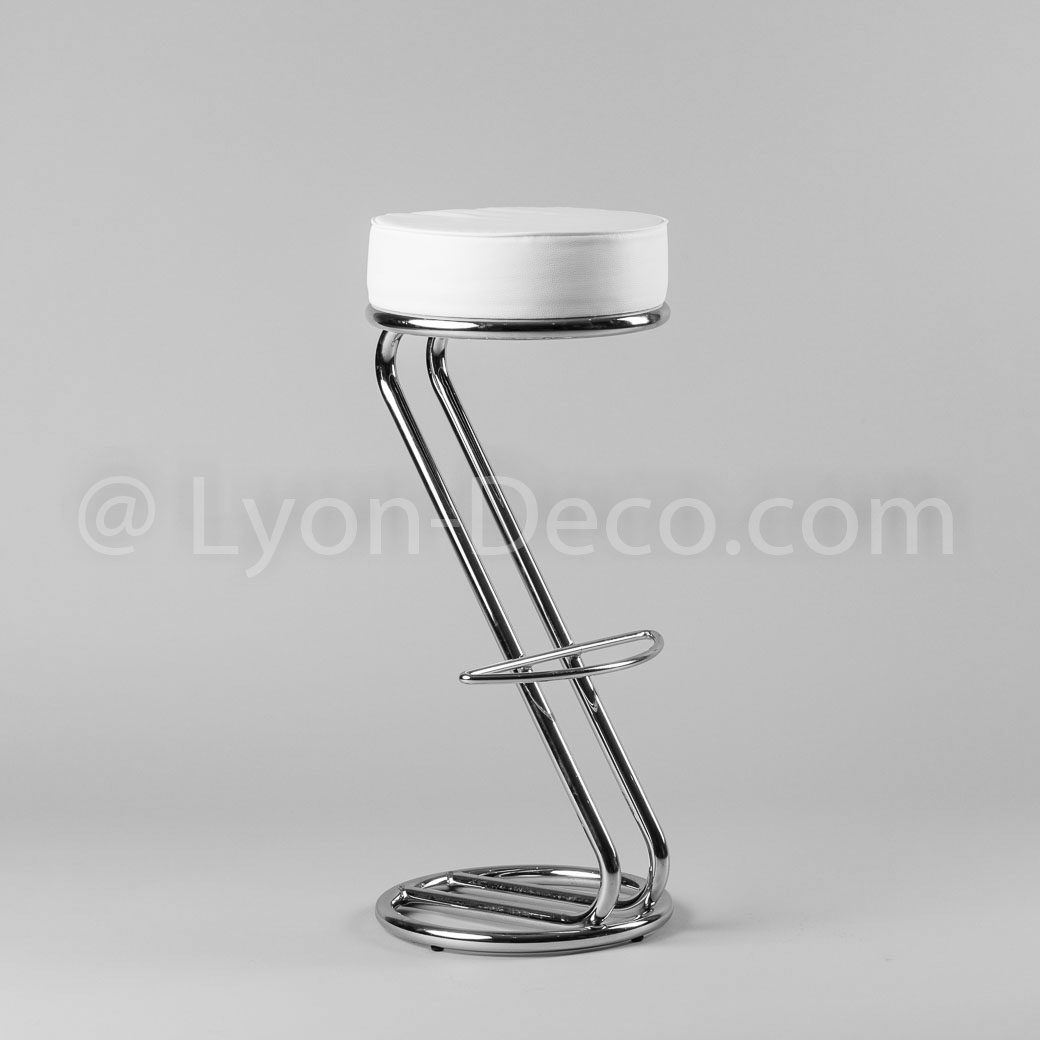 location de tabouret de bar z avec assise simili blanc. Black Bedroom Furniture Sets. Home Design Ideas