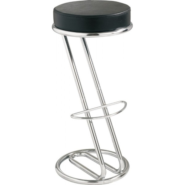 location de tabouret de bar en z avec assise noire et repose pied. Black Bedroom Furniture Sets. Home Design Ideas