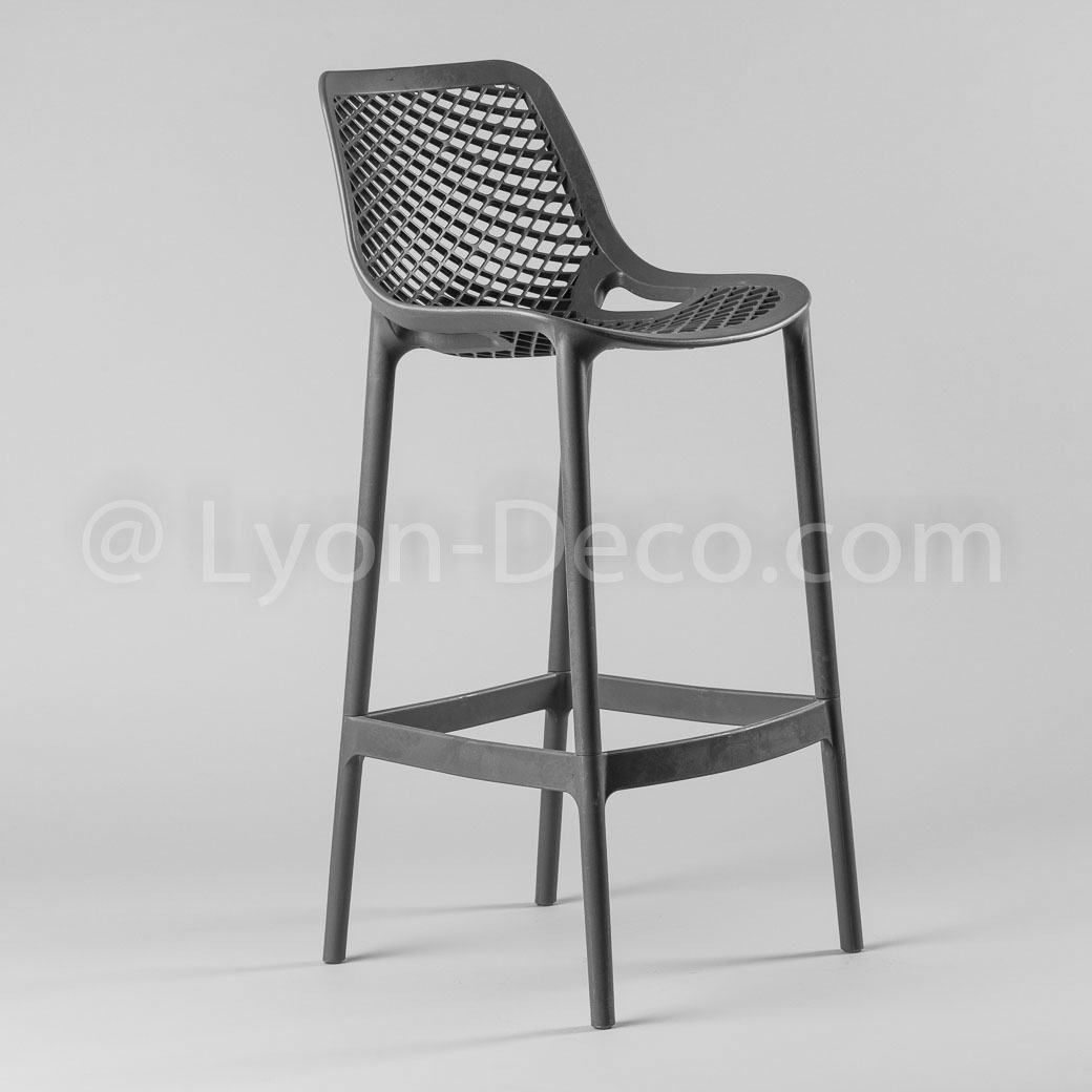 location tabouret della gris fonc en polypropyl ne tres confortable. Black Bedroom Furniture Sets. Home Design Ideas