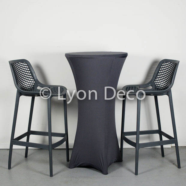 location tabouret della gris fonc en polypropylne tres confortable. Black Bedroom Furniture Sets. Home Design Ideas