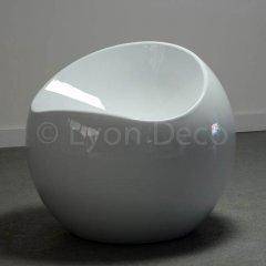 Location Pouf ball blanc