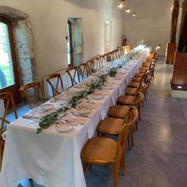 Table rectangulaire et Chaise Dos Croisé